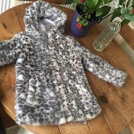 Lovely leopard fur coat size 8-9 years