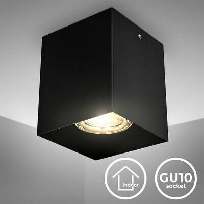 LED Foco de Techo Lámpara para Montar Reflector Downlight Negro Metal GU10