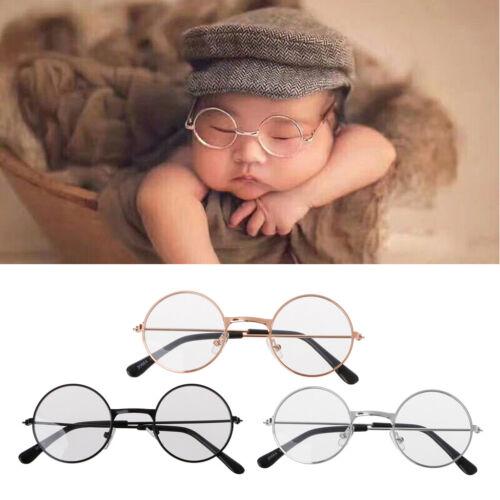 Boy Girl Baby Flat Glasses Newborn Photography Props Gentleman Studio Shoot