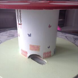 Upcycled cable drum child's play table