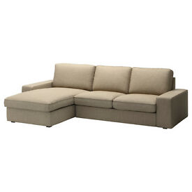 Two-seat sofa and chaise longue (IKEA), £240