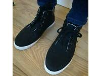 Black canvas high tops UK 9.5