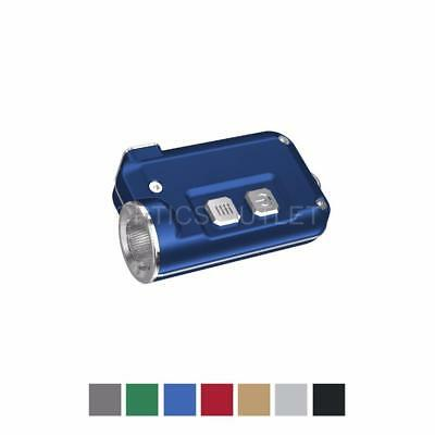 NITECORE TINI 380 Lumens Mini Metallic USB Rechargeable Keychain Light (Blue)