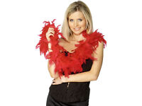 8 Red Feather Boas! Perfect for a Hen Do!!!