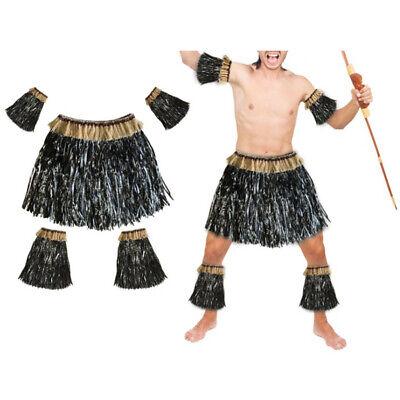 Adult Hawaiian Grass Hula Skirt Luau Party Halloween Beach Event Costume (Hawaiian Luau Party Kostüm)