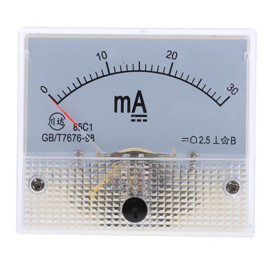 Dc 0-30ma Analog Amp Meter Ammeter Current Panel Ampere Meter Milliammeter