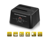 USB 3.0 Hard Drive Dock for 2.5 and 3.5 HDD or SSD (Supports SATA III, UASP and Drives 8TB+)