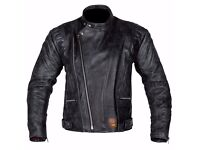 New Mens Leather Motorcycle Jacket - Spada Road Jacket - Black - Sizes 40-48