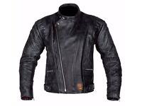 New Mens Leather Motorcycle Jacket - Spada Road Jacket - Black - Sizes 40-48