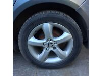 SKODA FABIA MK2 2007/2012 COMPLETE SET OF FOUR ALLOYS
