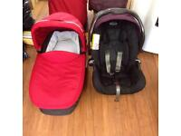 Craco car seat&carrycot +adapter,rain cover