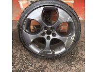 18'' VW GOLF GTI MONZA MK5 MK6 ALLOY WHEELS TYRES CADDY PASSAT JETTA 5X112