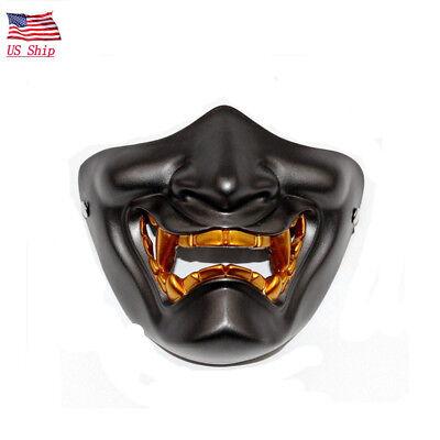 US! Halloween Japanese Buddhist Evil Oni Noh Hannya Vintage Resin Horror Mask](Oni Mask)