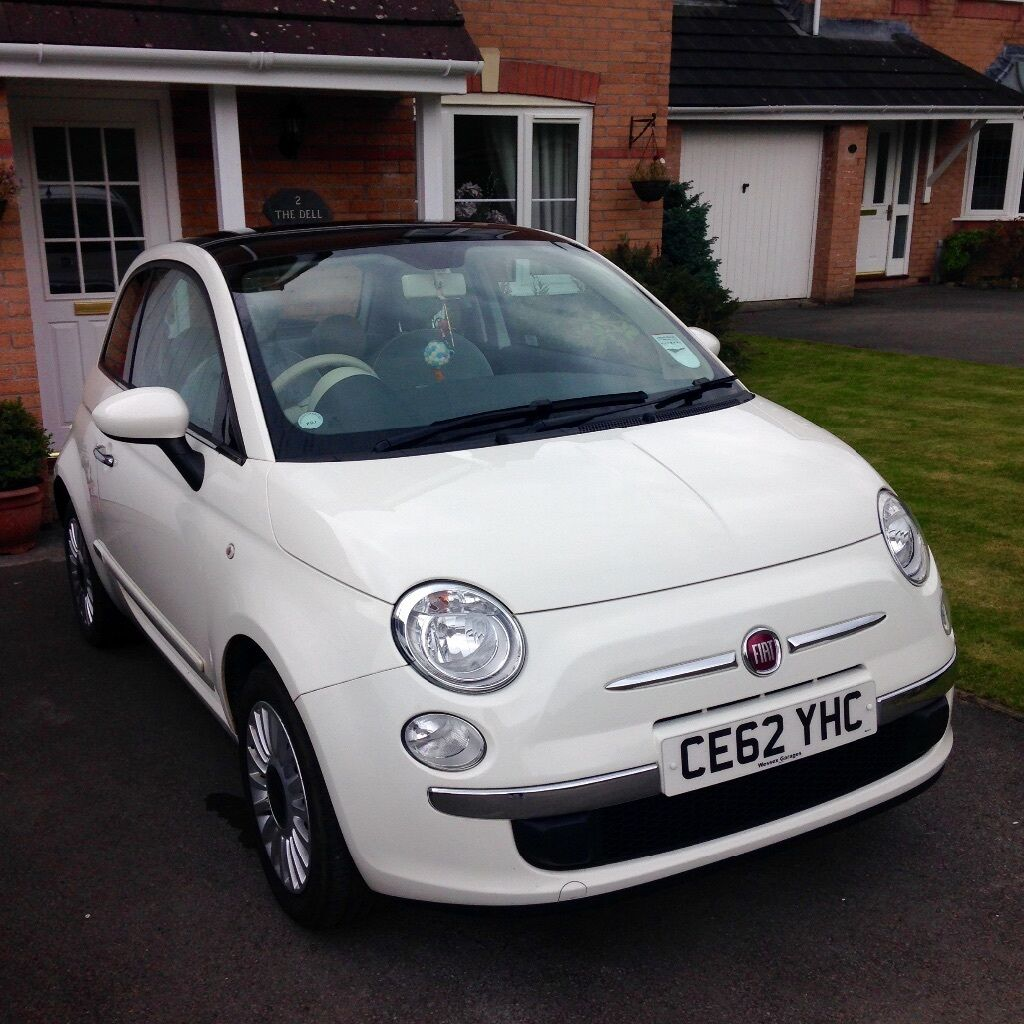 62 plate white fiat 500 lounge 1 2 petrol in aberdare. Black Bedroom Furniture Sets. Home Design Ideas