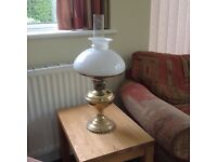 Vintage brass oil lamp in original condition...