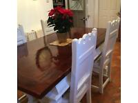 Gorgeous farmhouse table and 4 Chairs