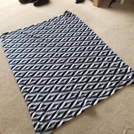 Black and white blanket