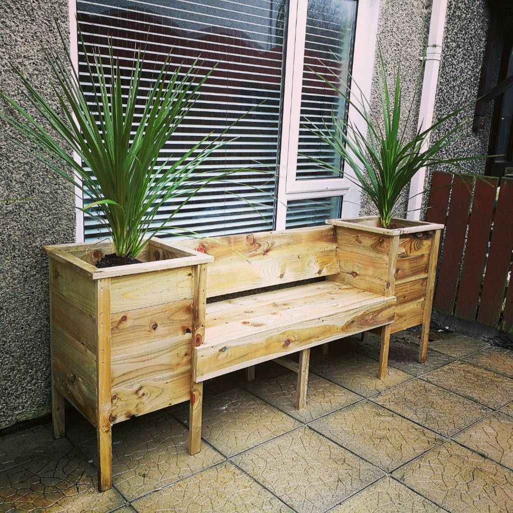 Garden Bench With Planters Home Design Ideas And Pictures