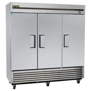 TRUE THREE DOOR STAINLESS STEEL FREEZER