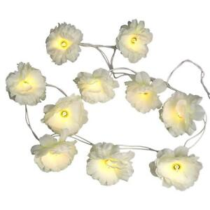 Flower fairy lights fairy lights ebay white flower fairy lights mightylinksfo