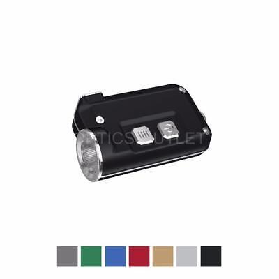 NITECORE TINI 380 Lumens Mini Metallic USB Rechargeable Keychain Light (Black)