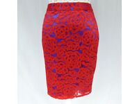 M&S red lace skirt size 10 NEW with tag