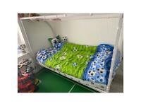 Kids football bed frame.