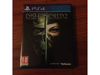 PS4 Dishonored 2 game as new Bargain price
