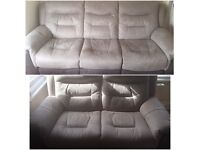 Garrick 3 and 2 seater manual recliner sofas