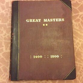 Unique antique books.The Great Masters 1400-1800 a pair of very large antique books .