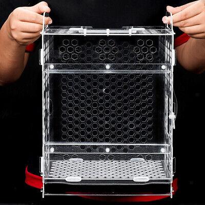Bird Feeder Removable Sliding Tray Clear Acrylic Bird Breeding Feeding Cage