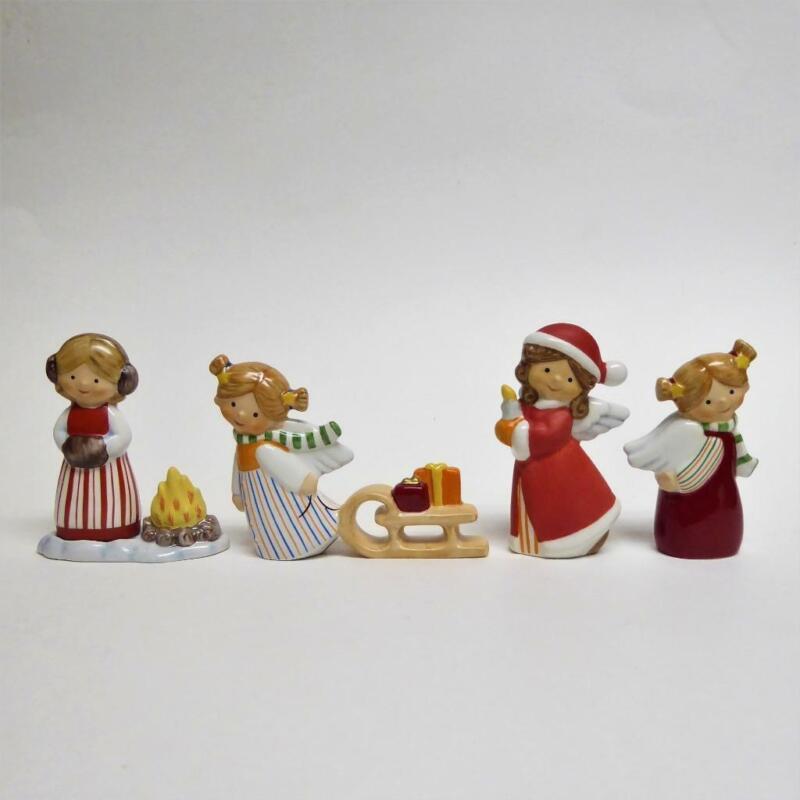 NEW Goebel NORDIC CHRISTMAS Swedish Angel Santa Girls Figurine Set 4 VHTF