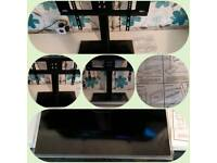 """Universal TV Stand/Base + Wall Mount for 37""""-55"""" Flat-Screen TVs"""