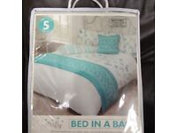 New Butterfly 5 piece bed in a bag, size double.