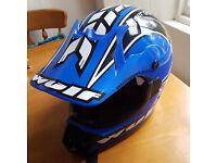 Motorbike/quad helmet. As new. Wulfsport synergy size Large