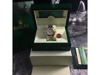 TwoTone Rolex Daytona With White Face Comes Rolex Bagged and Boxed