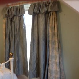 Laura Ashley Fabric Silk Curtains