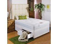 SINGLE/ DOUBLE / KING DIVAN BED BASE WITH MATTRESSES FREE DELIVERY