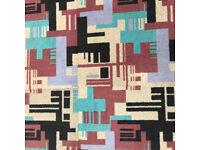 Interface Funky Multi Coloured Pattern Carpet Tiles. Retro Style.