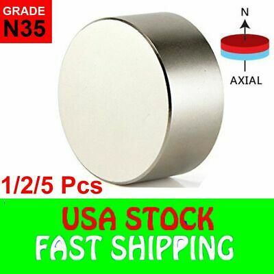 N52 Super Strong Neodymium Round Rare Earth Fridge Magnets Large Size 40mm20mm