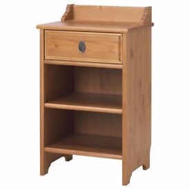 Ikea LEKSVIK Bedside Cabinet, Table Solid Pine Wood, Very Good Condition!
