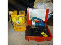 110 volt transformer and 110 volt Jig saw Bosch