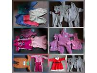 Hugs bundle of baby girl clothes 0-6 months