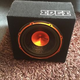 900 watts Edge subwoofer with built in amp with all wires