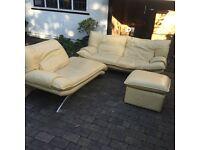 Italian leather sofa set! 3 pieces