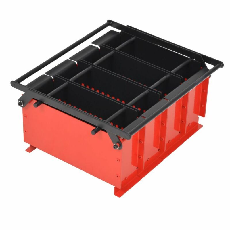 vidaXL Paper Log Briquette Maker Steel Black and Red Manual Press Machine