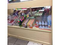 Shop Shelves , Counter, Display Cabinet and Ice cream Display Cabinet.