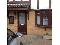 Front door PVC rosewood / mahogany . Used.