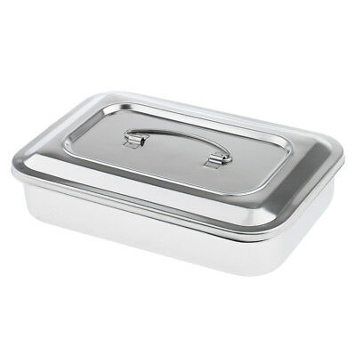9 Stainless Steel Instrument Tray Lid Medical Dental Storage Box Case