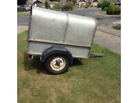 Ivor Williams (?) trailer approx 5ft X 3ft 6in with aluminium roof could be Ifor Williams P5E